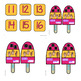 Popsicle Subitizing-Numbers 0-20