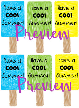 Popsicle Summer Gift Tags