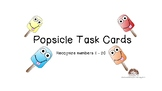 Popsicle Task Cards Identify Draw Numbers 1-20