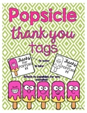 Popsicle Thank You Tags #christmasinjuly