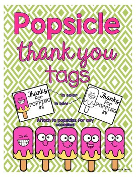 Popsicle Thank You Tags