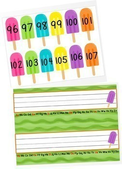 Popsicle Theme Classroom Decor Pack