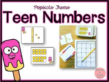 Popsicle Theme Teen Numbers!