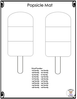 Word Families - Popsicles