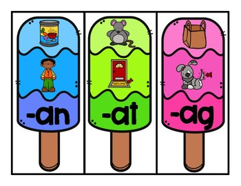 Popsicle Word Families Center
