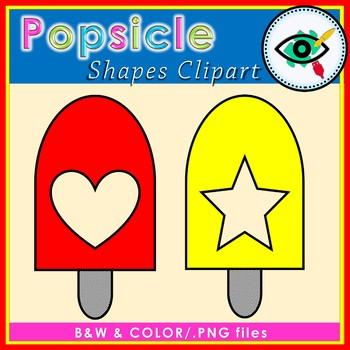 Summer Popsicle shapes clipart