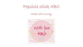 Popsicle stick ABC