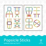 Popsicle sticks - simple STEM activity