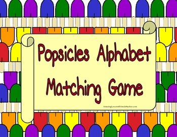 Popsicles Allphabet Matching Game