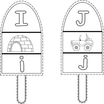 Popsicles Alphabet Three Piece Puzzles