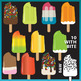 Popsicles Clip Art with bonus boxes