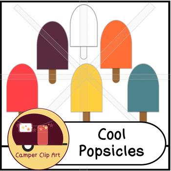 Popsicles Clip Art {CU - ok!}