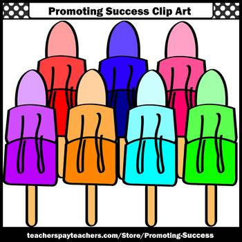 Popsicles Clip Art, Ice Cream Clipart Summer Clipart Commercial Use SPS