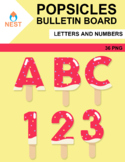 Popsicles Decoration Letters and Numbers