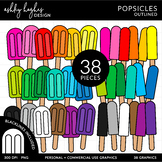 Popsicles Clipart {A Hughes Design}