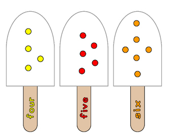 Popsicles Numbers Counting Cards (Common Core)