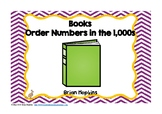 Books Ordering Numbers in the 1,000s Task Cards