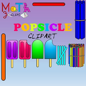 Popsicles and Popsicle Sticks Clipart