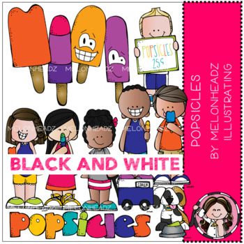 Popsicles clip art - Black and White - by Melonheadz