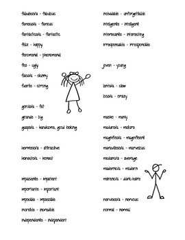Popular Adjectives (Reference)