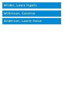 Popular Authors - Shelf Labels - 16mm - A4 Paper