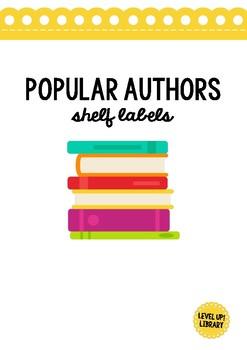 Popular Authors Shelf Labels