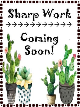 Popular Cactus Theme! Sharp Work Coming Soon! Free