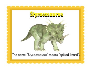 Popular Dinosaurs:  Realistic Mini Dinosaurs Word Wall Posters and 10 Puzzles