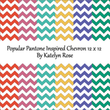 Popular Pantone Inspired Chevron 12 x 12