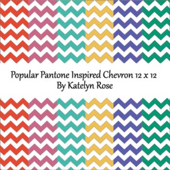 Popular Pantone Inspired Chevron 12 x 12