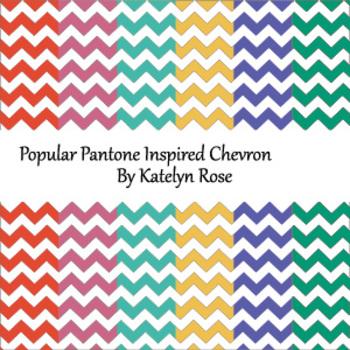 Popular Pantone Inspired Chevron Tablet