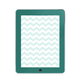 Popular Pantone Inspired Chevron Tablet