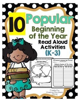 Popular Read Aloud Book Activities
