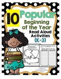 Popular Read Aloud Book Activities