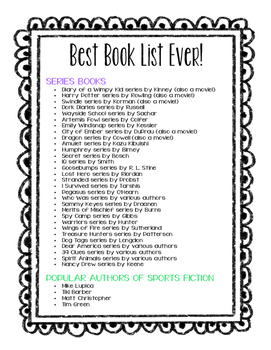Popular & Recommended Book List