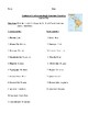 Popular South and Central American Countries & Their Capitals Worksheet or Test
