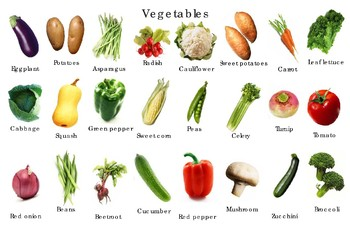 "Popular Vegetables Poster:  ""Ledger/Tabloid"" (11 x 17 inches)"