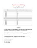 Population Change Worksheet