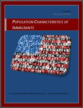 Population Characteristics of Immigrants Differentiated In