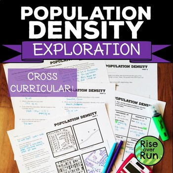 Population Density, Real World Activity for Geometry