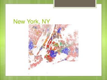 Population Density & Ethnicity Map series