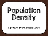 Population Density Power Point - Human Geography (Imperial and Metric Included)