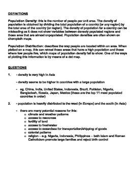Population distribution density worksheet answer key by roberts population distribution density worksheet answer key ibookread PDF