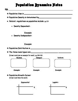 Population Dynamics Notes