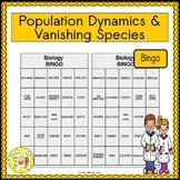 Population Dynamics and Vanishing Species BINGO