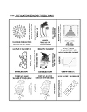 Population Ecology: 9 Square Puzzle Card Sort EASY