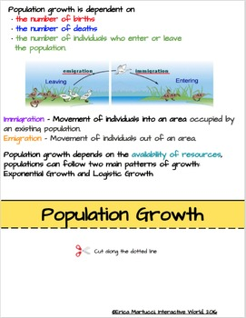 Population Ecology Interactive Flip Book and Quiz