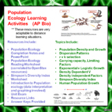 Population Ecology and Density Effects Learning Package for AP/Advanced Biology