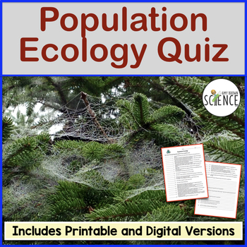 Population Ecology Quiz by Amy Brown Science   Teachers ...