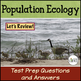 Population Ecology Review Questions and Answers